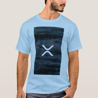 XRP, Ripple blue water tshirt