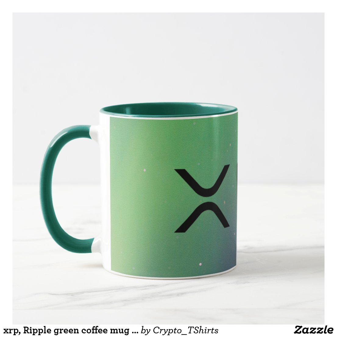 xrp, Ripple green coffee mug / cup