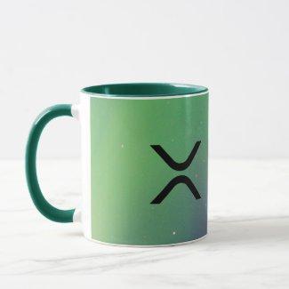 xrp, Ripple green coffee mug / cup