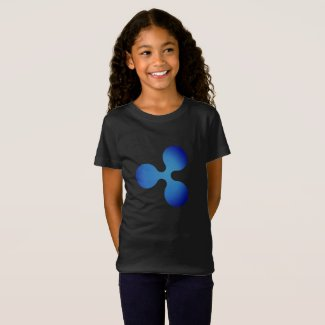 XRP, Ripple logo, girls T-Shirt