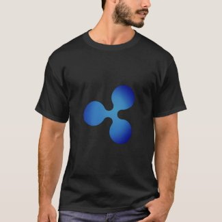 XRP, Ripple logo, mens T-Shirt