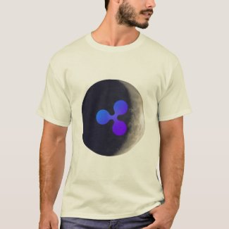 XRP Ripple logo moon mens T-Shirt