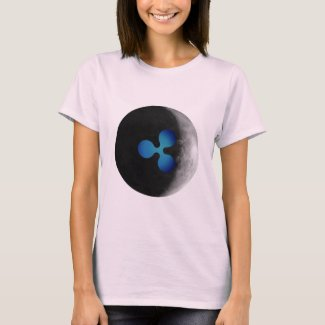XRP Ripple logo moon womens T-Shirt
