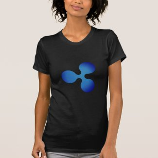 XRP, Ripple logo, womens T-Shirt