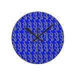 Xs amarillo en el arte azul de Digitaces del fondo Relojes