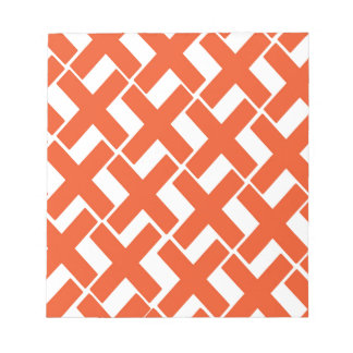 Xs anaranjado y blanco libreta para notas