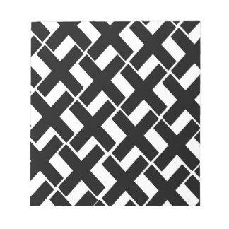 Xs blanco y negro libreta para notas