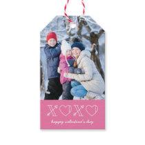Xs & Os Valentine's Day Gift Tag - Magenta