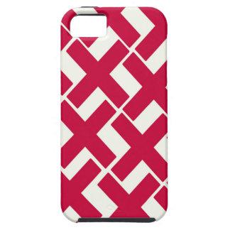 Xs rojo y blanco funda para iPhone 5 tough