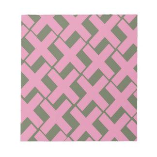 Xs rosado y gris blocs