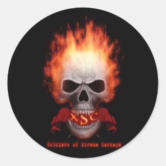 xSc Flaming Skull stickers
