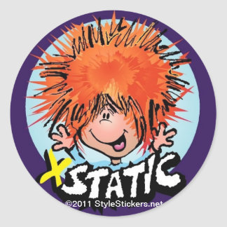 XStatic from StyleStickers™ Classic Round Sticker