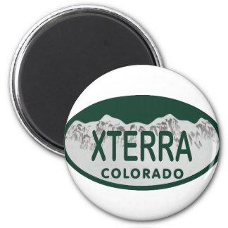 xterra license oval 2 inch round magnet