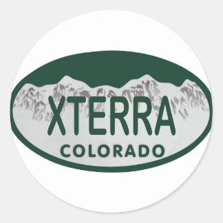 xterra license oval classic round sticker