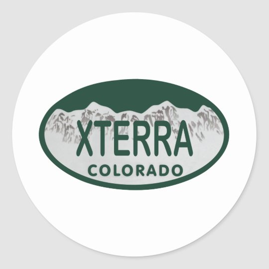 xterra license oval classic round sticker