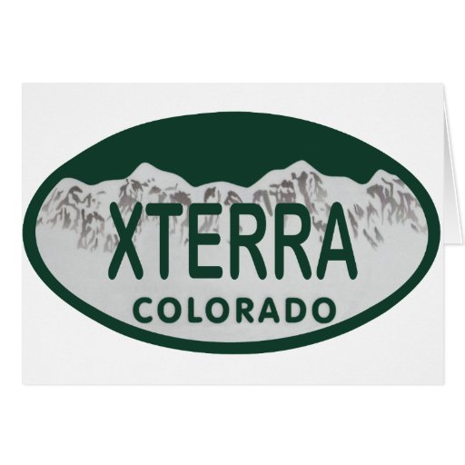 xterra license oval greeting card