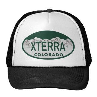 xterra license oval trucker hat