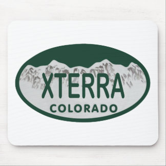 xterra license oval mouse pad