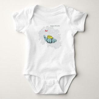 Xtreme Manatee Skydiving Baby Bodysuit