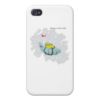 Xtreme Manatee Skydiving Cover For iPhone 4