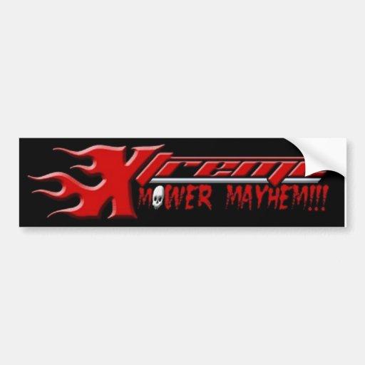 Xtreme Mower Mayhem Bumper Stickers