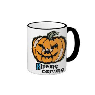 Xtreme Pumpkin Carving Ringer Coffee Mug