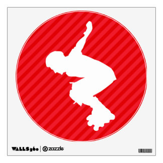 Xtreme Skating; Scarlet Red Stripes Room Decal