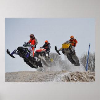 Xtreme Snowmobiling la impresión Póster