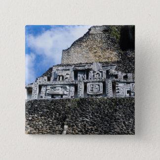 Xunantunich Mayan Ruin in Belize Button