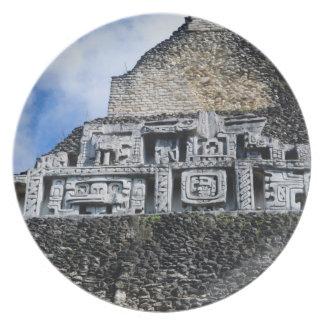Xunantunich Mayan Ruin in Belize Dinner Plate
