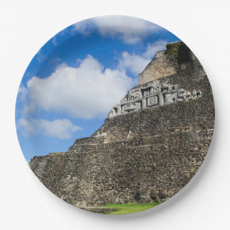 Xunantunich Mayan Ruin in Belize Paper Plate