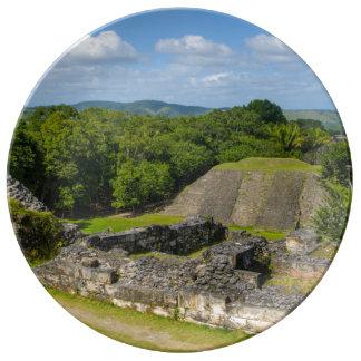 Xunantunich Mayan Ruin in Belize Plate