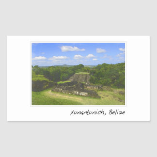 Xunantunich Mayan Ruin in Belize Rectangular Sticker