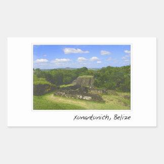 Xunantunich Mayan Ruin in Belize Rectangular Sticker