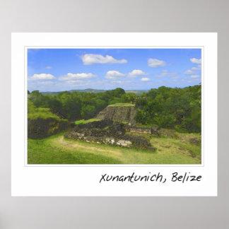 Xunantunich Mayan Ruins Belize Poster