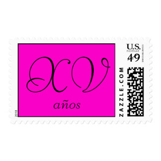 XV años in pink Postage