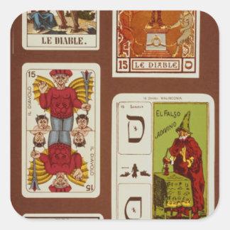 XV The Devil Square Sticker
