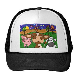 XV vaca, cerdo, y diseño del arte popular de las o Gorro De Camionero