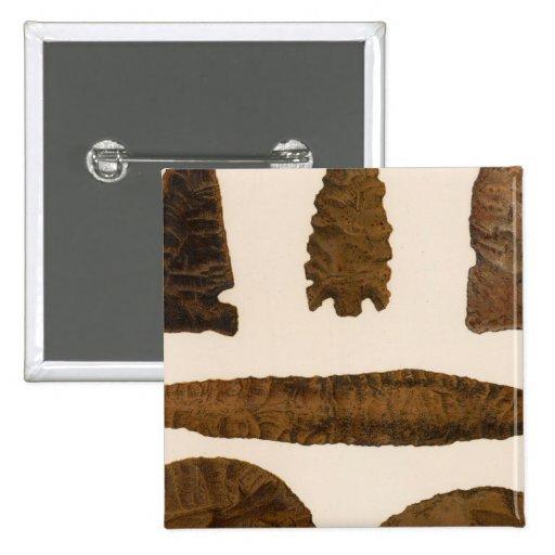 XVI instrumentos de piedra, New México Pin Cuadrada 5 Cm