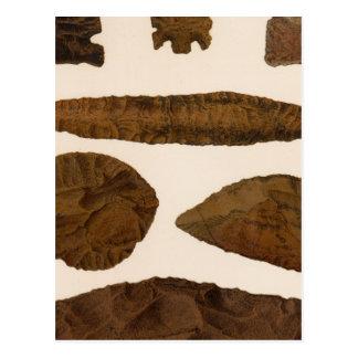 XVI instrumentos de piedra, New México Tarjeta Postal