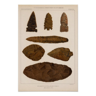 XVI Stone implements, New Mexico Poster