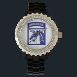 """XVIII Airborne Corps &quot; Sky Dragons&quot; Watch<br><div class=""""desc"""">The XVIII Airborne Corps is part of Army Forces Command designed for rapid deployment anywhere in the world. It is referred to as &quot;America&#39;s Contingency Corps&quot;. Its headquarters are at Fort Bragg, North Carolina. The &quot;Sky Dragons&quot; have seen action in World War II, Cold War, Persian Gulf War, Afghanistan &amp;...</div>"""