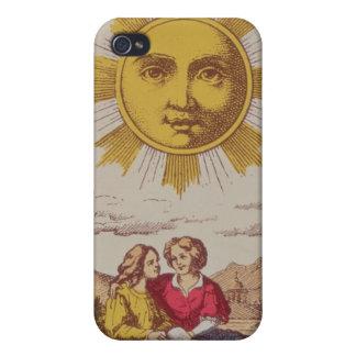 XVIIII Le Soleil, carta de tarot francesa del Sun iPhone 4 Carcasa