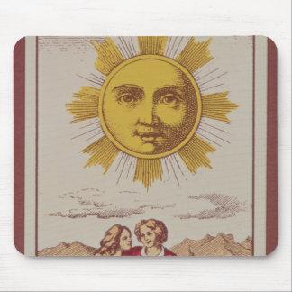 XVIIII Le Soleil, carta de tarot francesa del Sun Tapetes De Raton