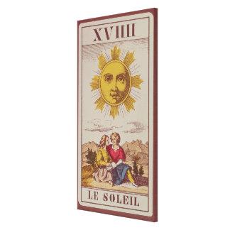 XVIIII Le Soleil, French tarot card of the Sun Canvas Print