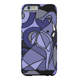 XW- diseño del elefante del arte abstracto Funda Barely There iPhone 6