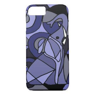 XW- diseño del elefante del arte abstracto Funda iPhone 7
