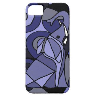 XW- diseño del elefante del arte abstracto Funda Para iPhone SE/5/5s