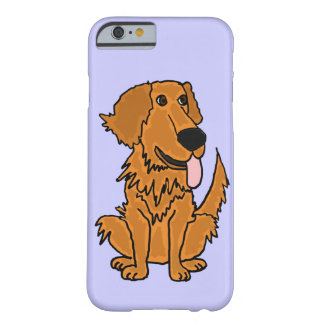 XW- diseño divertido del perro del golden Funda De iPhone 6 Barely There