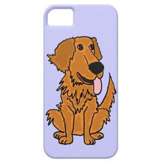 XW- diseño divertido del perro del golden retrieve iPhone 5 Case-Mate Fundas